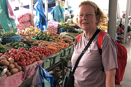 courses au marché